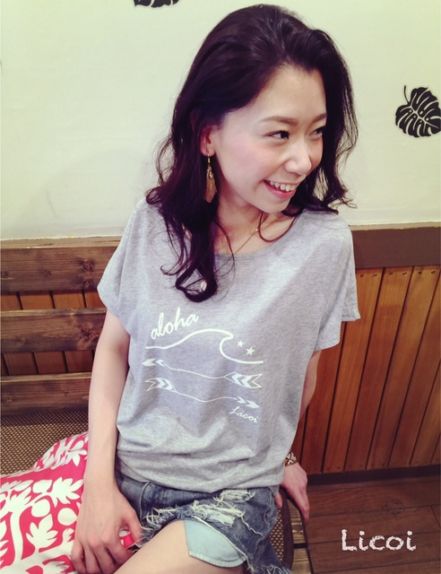 Licoi wave&arrow ドルマンTシャツ